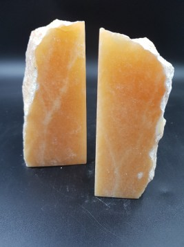 Bookends-Calcite-Orange