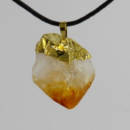 citrine-natural-point-pendants
