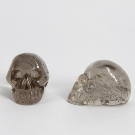 quartz-(smoky)-skull-carvings